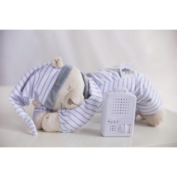 Doodoo maci szürke csíkos + tartalék plüss csomagban