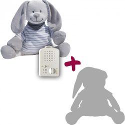 Zajačik Doodoo - sivý/páskovaný+1ks Plyšový