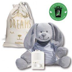 Doodoo nyuszi szürke/fehér csíkos + tartalék plüss csomagban - Előrendelhető! Érkezés: február 15!