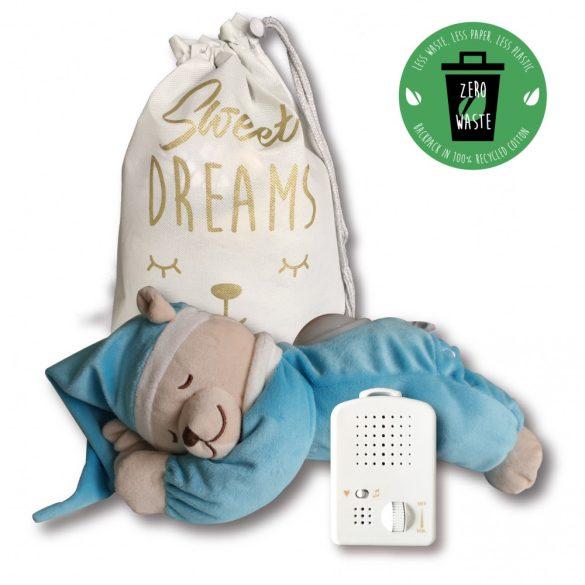 Doodoo lámpás maci türkizkék + tartalék plüss csomagban