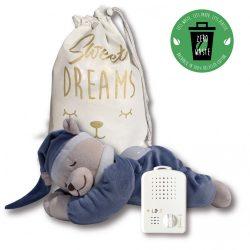 Doodoo lámpás maci farmerkék + tartalék plüss csomagban