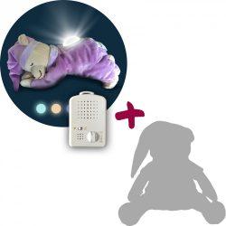 Doodoo lámpás maci lila + tartalék plüss a csomagban