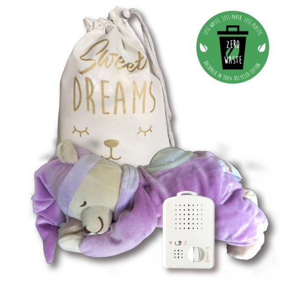 ELŐRENDELHETŐ - VÁRHATÓ ÉRKEZÉS: 2021.09.24. Doodoo lámpás maci lila + tartalék plüss a csomagban
