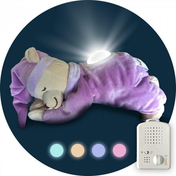 Doodoo lámpás maci lila+tartalék plüss a csomagban
