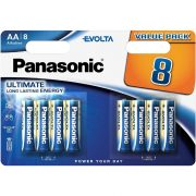 8 db-os Panasonic Evolta AA elem