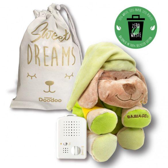 ELŐRENDELHETŐ - VÁRHATÓ ÉRKEZÉS: 2021.08.15. Doodoo zöld kutya + tartalék plüss a csomagban