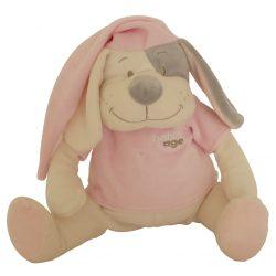Piesek Doodoo koloru różowego rezerwowy plusz
