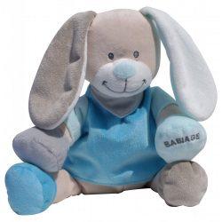 Plyšový zajačik Doodoo - modrý