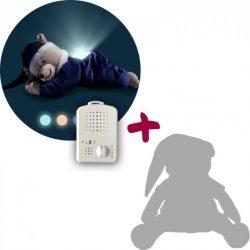 Titkos ajánlat - Doodoo lámpás maci farmerkék + tartalék plüss csomagban