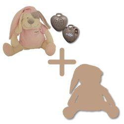 Doodoo szünetmentes audió + rózsaszín kutya + tartalék plüss