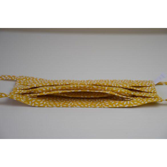 Mosható szájmaszk - sárga rizsminta